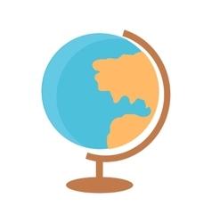 School desktop globe vector