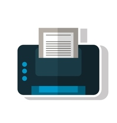 Isolated printer with paper design vector