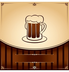 Beer tankard graphic with place for text vector