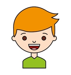 Little boy character icon vector
