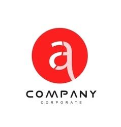 Alphabet red circle a letter logo icon design vector