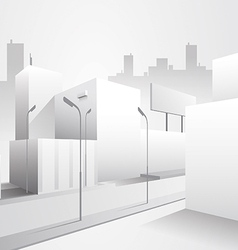 Modern and clean minimal street view vector