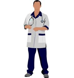 al 0336 doctor 01 vector image