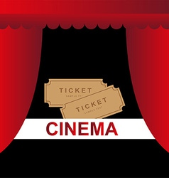 Cinema theater tickets background vector