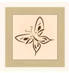 frame with butterfly vector image