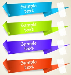 Set of abstract origami tag labels vector