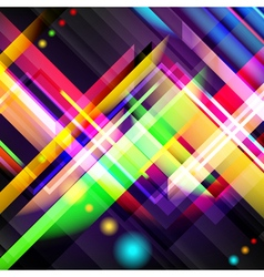 Digitally generated image of colorful light and vector