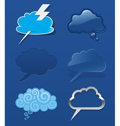 Set of different speech cloud vector