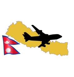 Fly me to the nepal vector