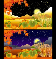 Autumn landscapes vector