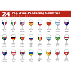Top wine producing countries vector