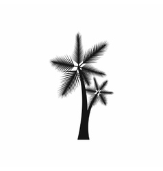High palm tree icon simple style vector