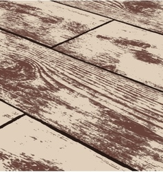Abstract brown grunge wood texture in perspective vector image