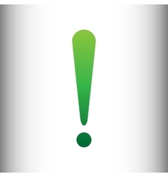 Attention sign green gradient icon vector