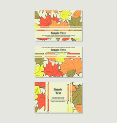 autumn leaves banners vector image