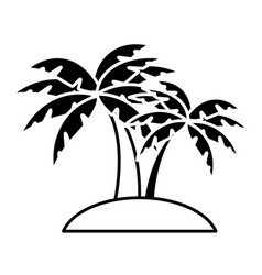 beach palm tree vector image
