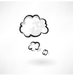 clouds grunge icon vector image vector image