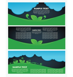 Collection of ecological headers vector