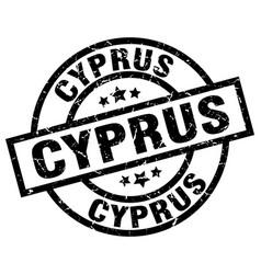 Cyprus black round grunge stamp vector