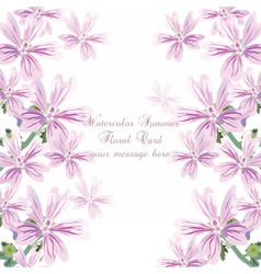 Delicate Pink flowers card vector image vector image