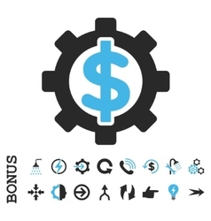 Financial Options Flat Icon With Bonus vector image