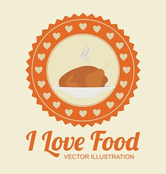 Food design over beige background vector