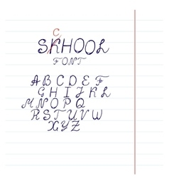 Hand drawn font in format vector