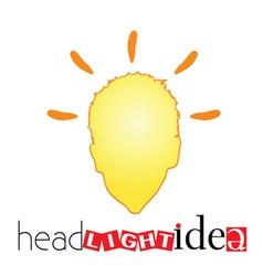 Head light idea art vector