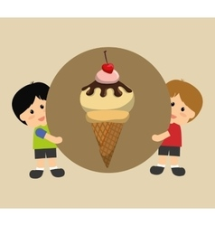 Ice cream design vector image
