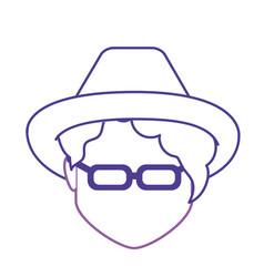 Line default avatar woman to social user vector