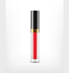 lip gloss in glass bottle vector image