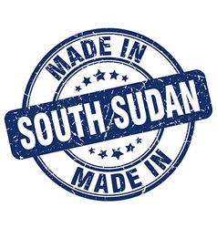 made in South Sudan vector image vector image