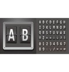 metallic plaque with abc vector image vector image