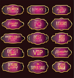 set of luxury sales quality labels vector image