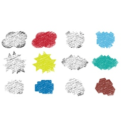 set of various stickers vector image vector image