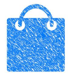 Shopping bag grunge icon vector