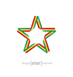 star with Guinea flag colors vector image vector image