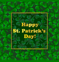 Stpatricks day greeting card with polygonal vector