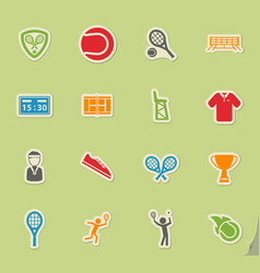 Tennis simply icons vector