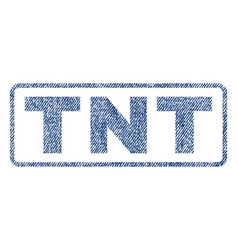 Tnt textile stamp vector