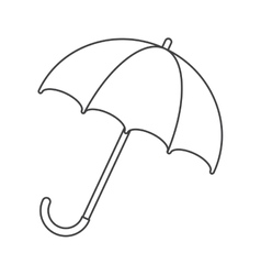 Umbrella accessory water protection thin line vector