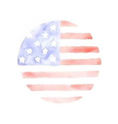 Watercolor usa flag patriotic background vector