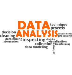 word cloud - data analysis vector image vector image
