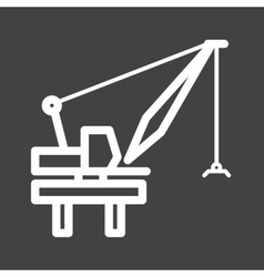 Harbor crane vector