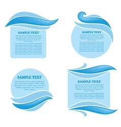 Clear water stickers and symbols for your text vector
