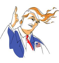 Donald trump caricature vector