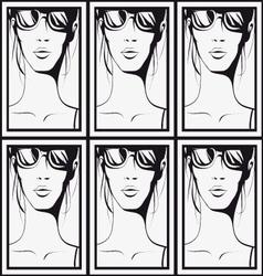 Pattern woman vector