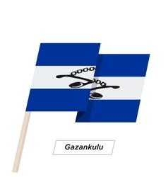 Gazankulu ribbon waving flag isolated on white vector