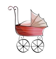 A baby carriage vector