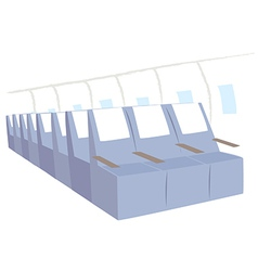 Airplane seats background vector